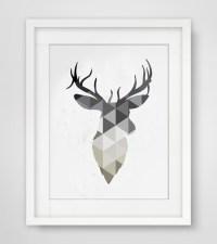 15 Ideas of Abstract Deer Wall Art