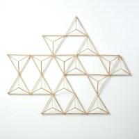 15 Ideas of Abstract Geometric Metal Wall Art