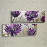 15 Photos Purple Flower Metal Wall Art