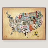 20 The Best Usa Map Wall Art