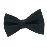 Solid Black Bow Tie - Erieairfair