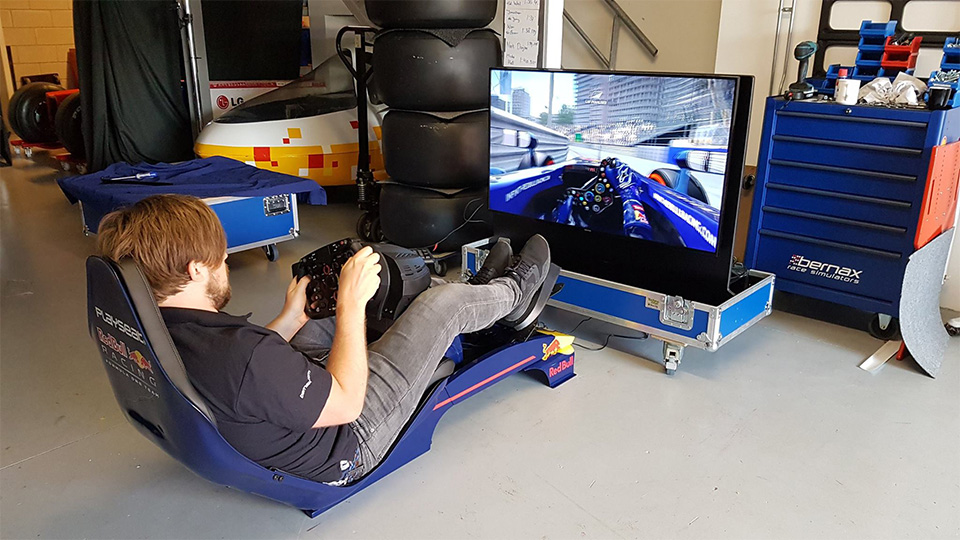 Rent A Red Bull Playseat Bernax Race Simulators