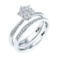 18ct White Gold Diamond Bridal Set Rings From Berry's ...