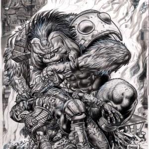 Glenn Fabry � 2000ad issue 348 Judge Dredd megazine cover Comic Art