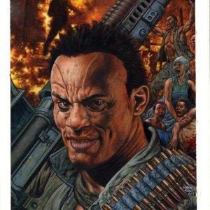 Glenn Fabry � Hellblazer 239 cover Comic Art