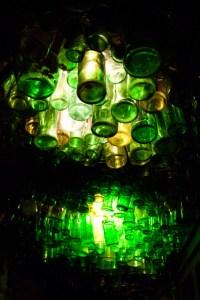 Bertha's Hallway Ceiling Bottles