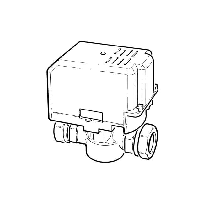port motorised valve with auxiliary switch
