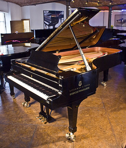Steinway Model D Concert Grand piano for sale with a black case