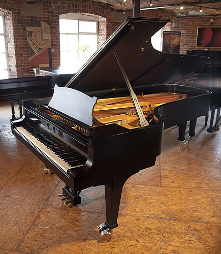 Steinway Model D Concert Grand piano for sale with a satin black