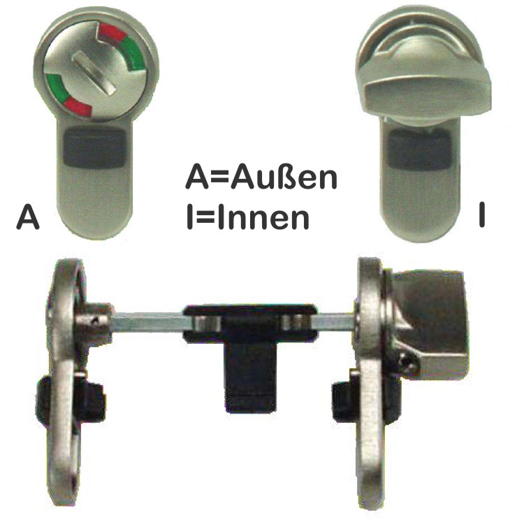 WC-\/Bad-Modul für Buntbart-vorgerichtete Türen - badezimmer schloss