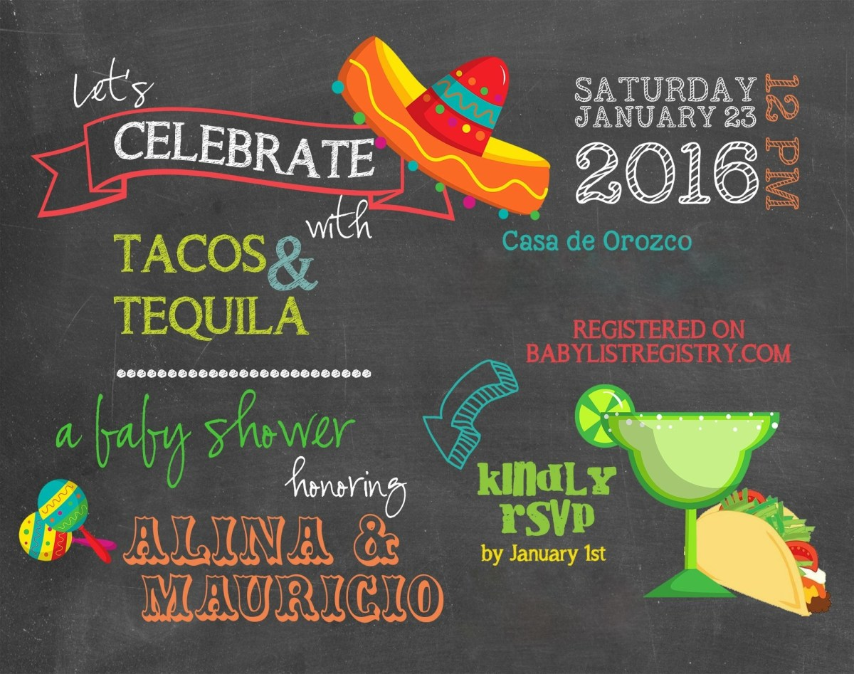 Tacos & Tequila Co-ed Baby Shower