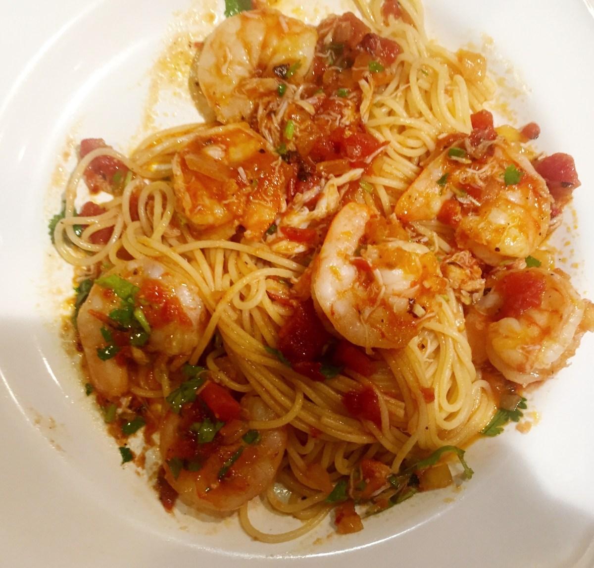 Sunday Supper: Shrimp and Lump Crab Fra Diavolo