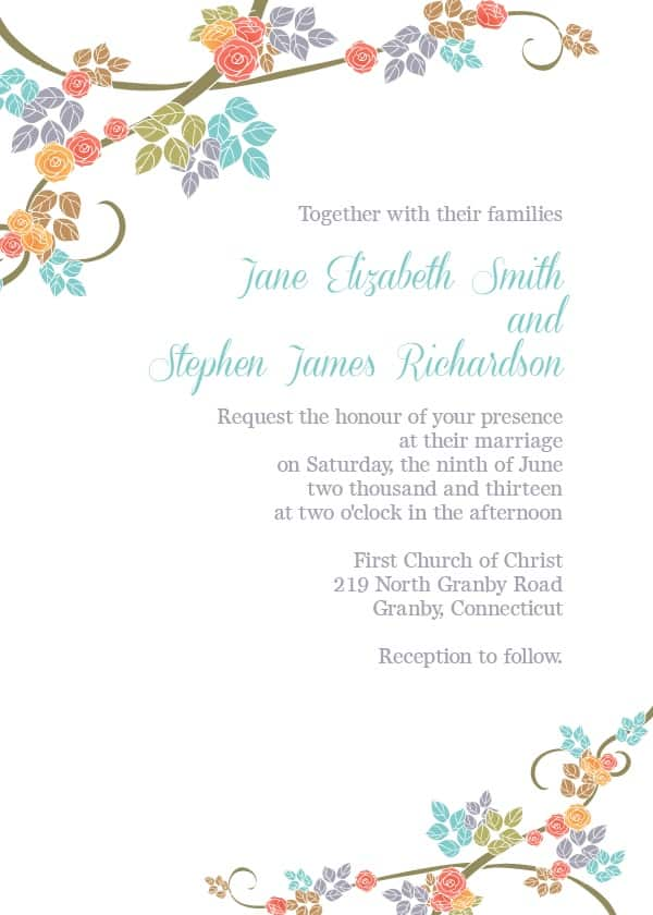 20 Invitations \ Save the Dates Available to Print \ Download for - free printable wedding invitation templates for word