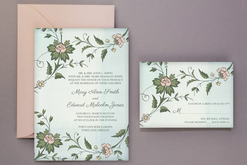 Wedding DIY Free Printable Invitations  RSVP Bespoke-Bride - free printable wedding rsvp cards