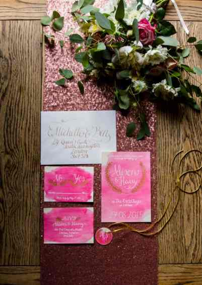 Pink, Glitter & Gold Styled shoot 52