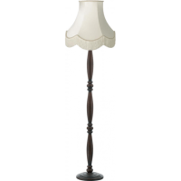 Dark Brown Victorian Wooden Floor Lamp with Luxury Fringed ...