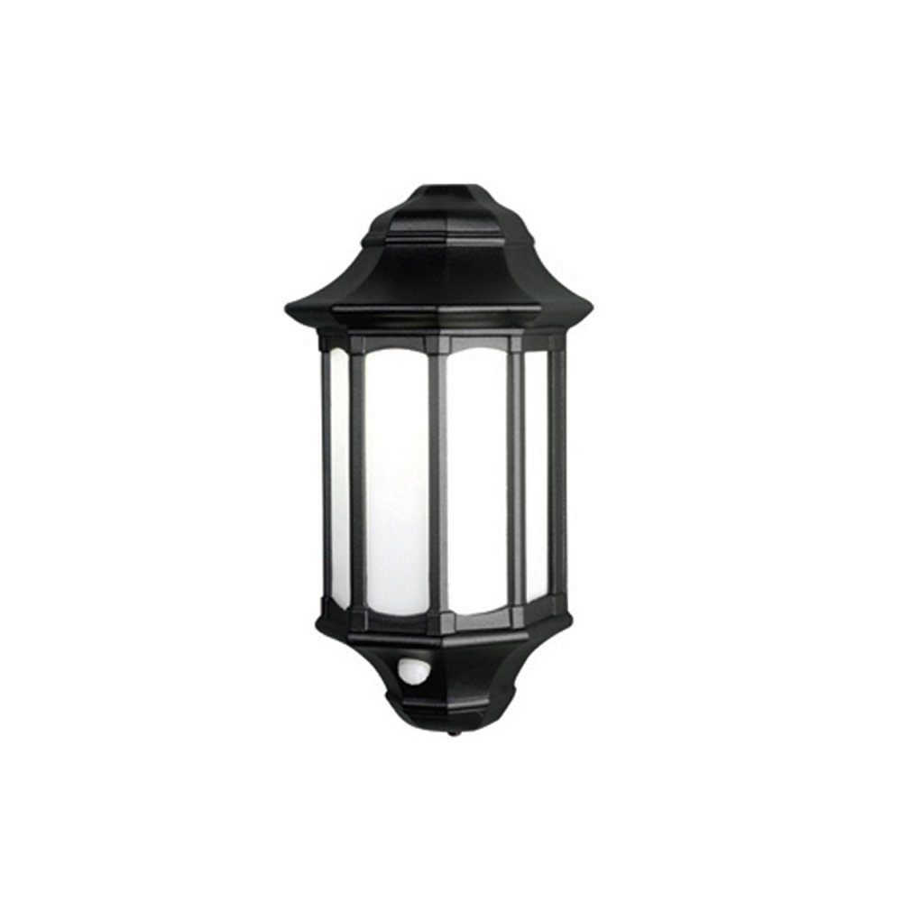 Traditional Black Low Energy Security Lantern Flush