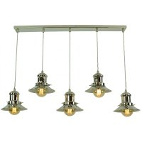 Vintage Fisherman Style Kitchen Island Pendant with 5 ...