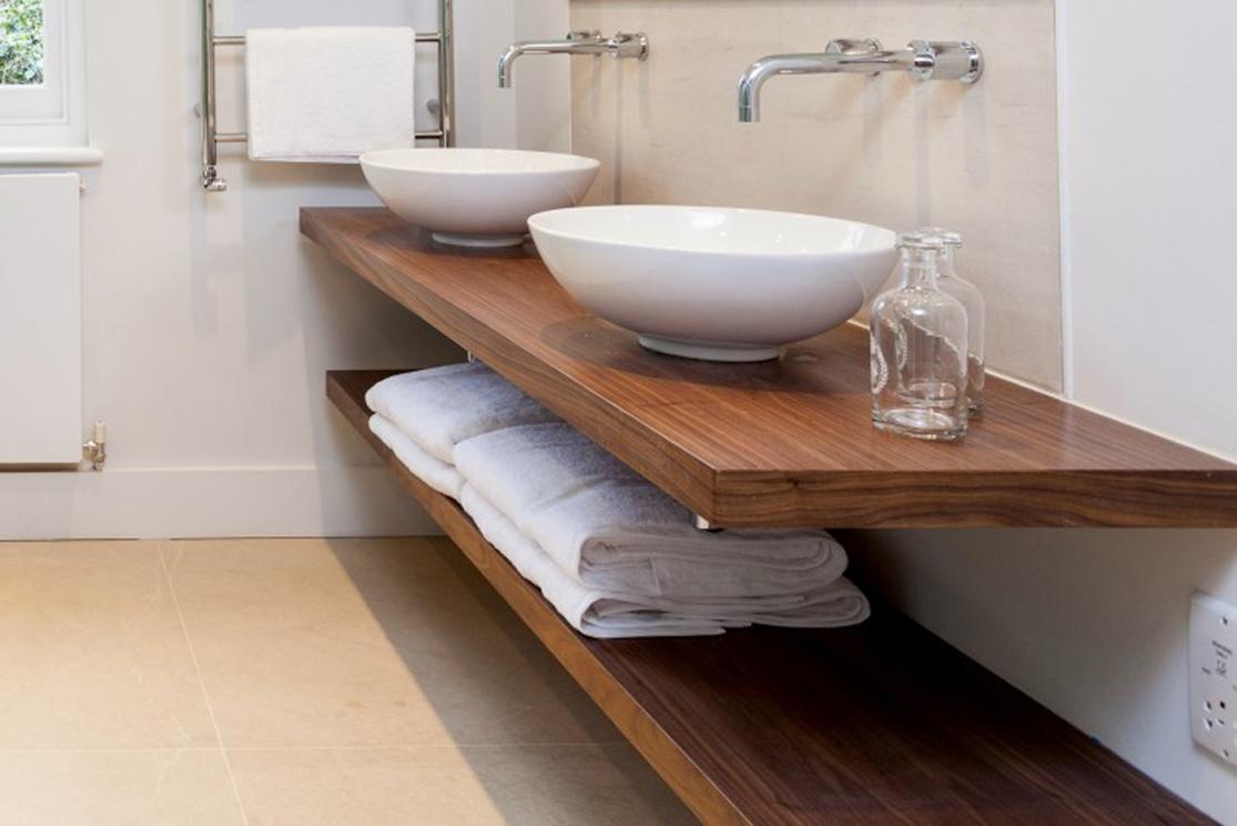Floating shelf for bathroom basin d wall decal