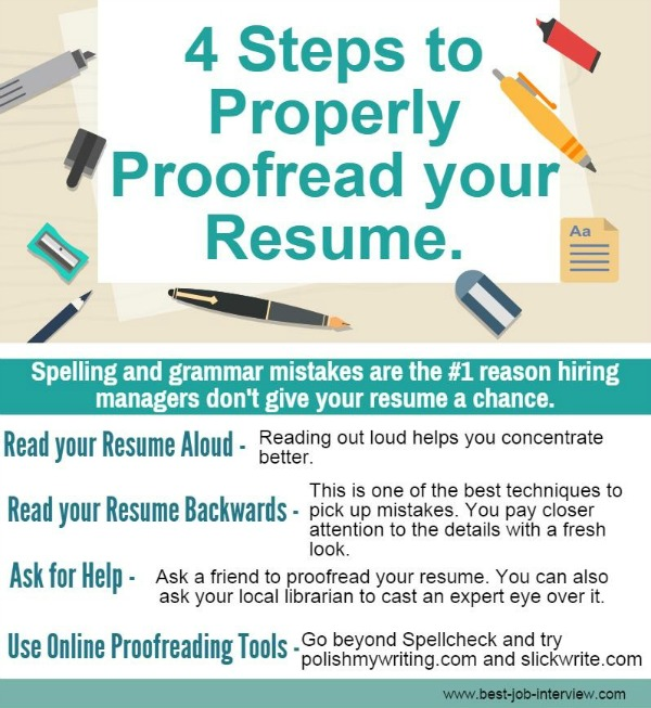Making a Resume that Gets Results - resume proofreading