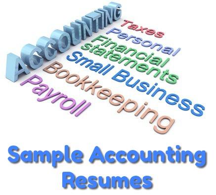 7 Sample Accounting Resumes