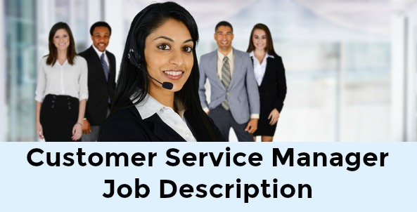 Customer Service Manager Job Description
