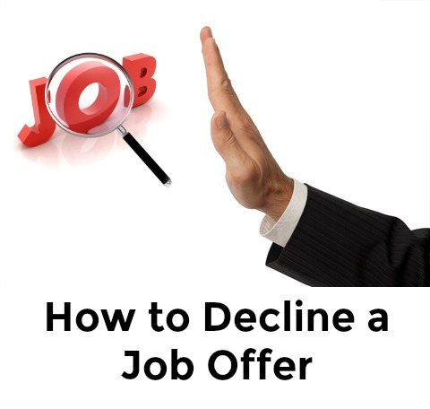 Sample Decline Job Offer Letter - decline offer letter