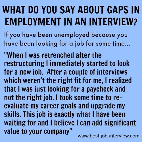 Best Interview Answer to Employment Gaps