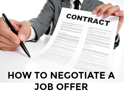 Job Offer Negotiations Techniques
