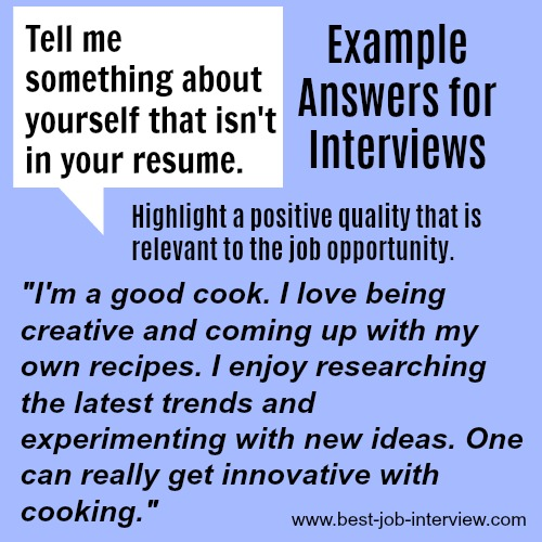 Example Answers for Interviews
