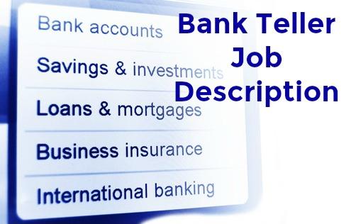Bank Teller Job Description