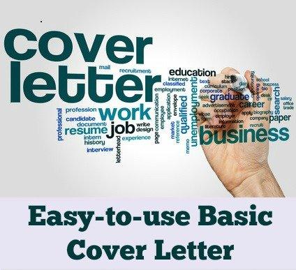 Basic Cover Letter Sample - basic cover letter