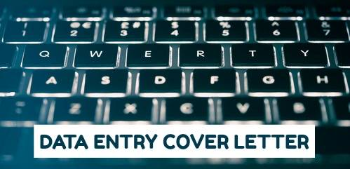 Data Entry Cover Letter Sample