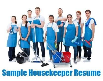 Sample Housekeeper Resume