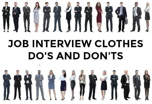 Job Interview Clothes Do\u0027s and Don\u0027ts