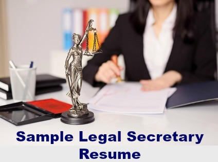 Sample Legal Secretary Resume