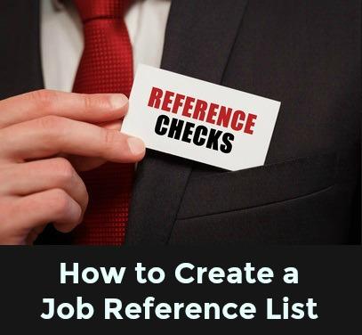 Sample Job Reference List