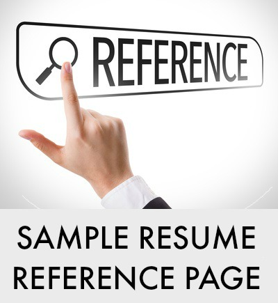 Resume Reference Page Example - sample resume reference page