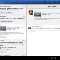 Facebook Application for Android Tablet