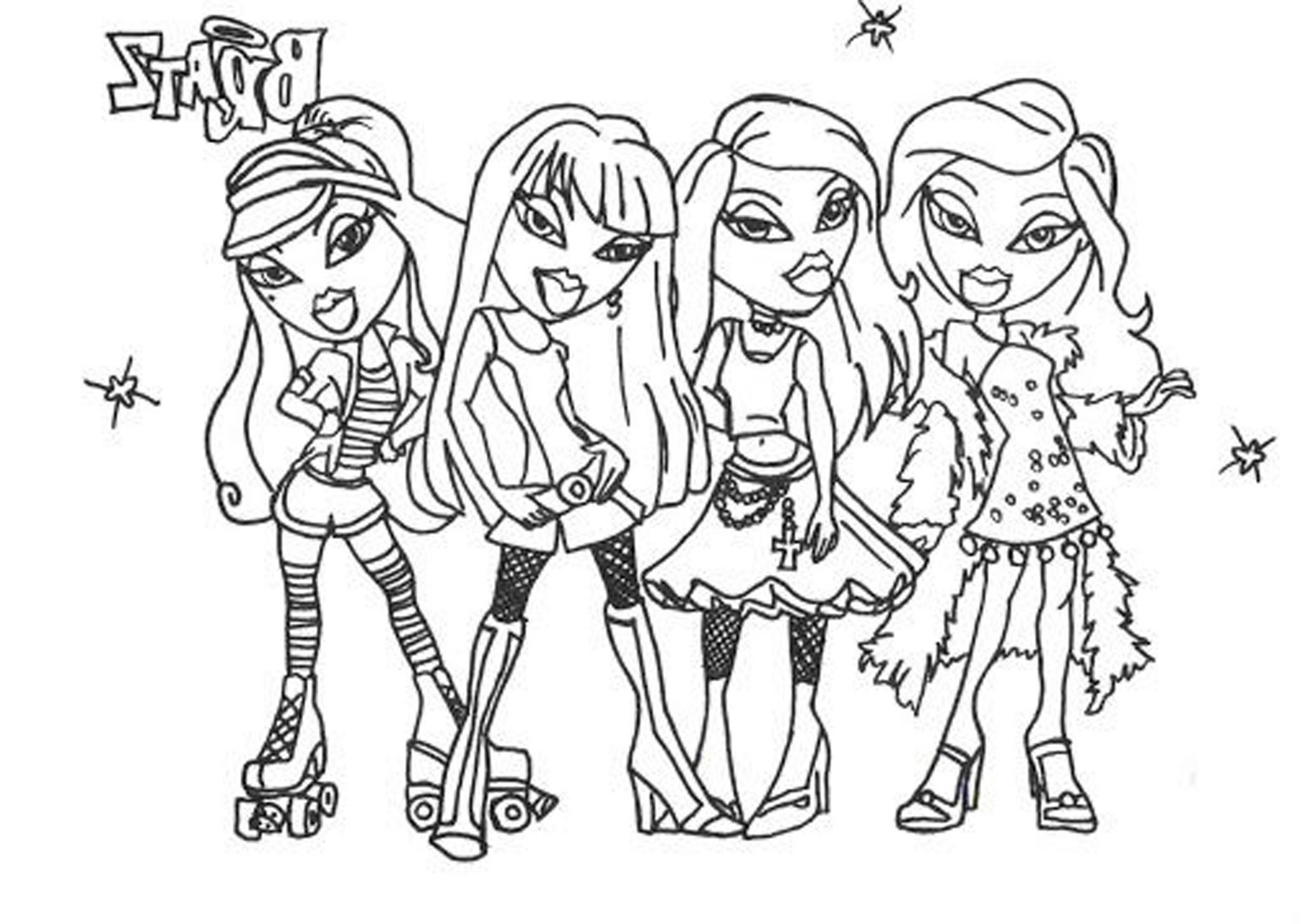 Bratz Coloring Pages For Girls Bestappsforkidscom