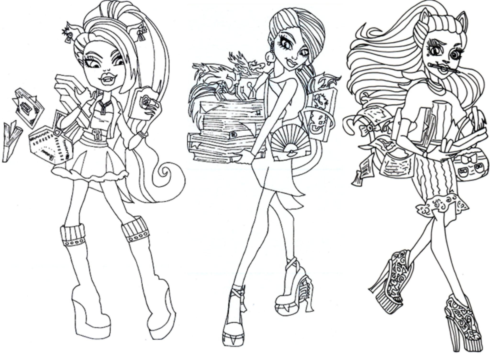 Monster High Clawdeen Ausmalbilder : Monster High Logo Coloring Pages Democraciaejustica