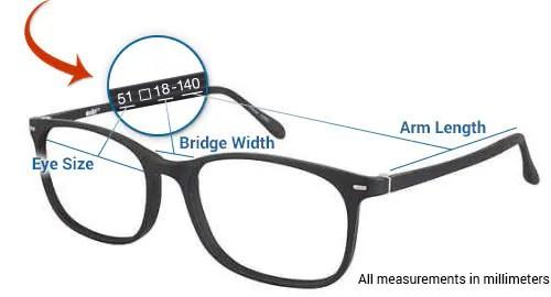 Best Buy Eyeglasses - Frame Size Chart