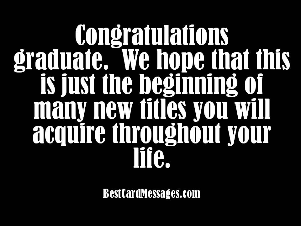 Graduation Card Messages