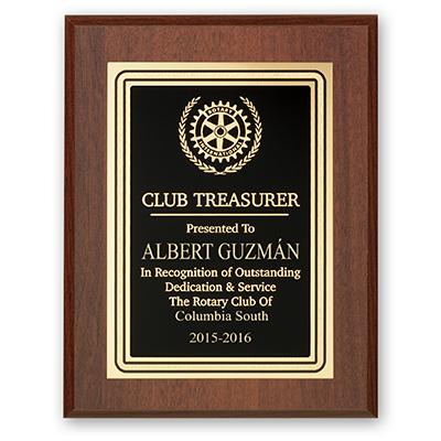 Rotary Club Treasurer Plaque - Club Executive Series - Rotary Club