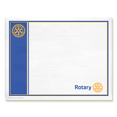 Rotary CUSTOMIZED Perfect Attendance Certificate - Rotary Club