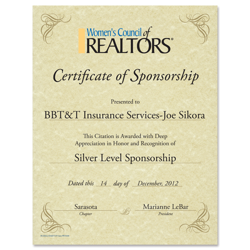 Custom WCR Certificate-Corporate Awards and Clothing - Russell - clothing sponsorship