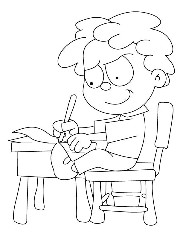 Writing Coloring Pages - Eskayalitim