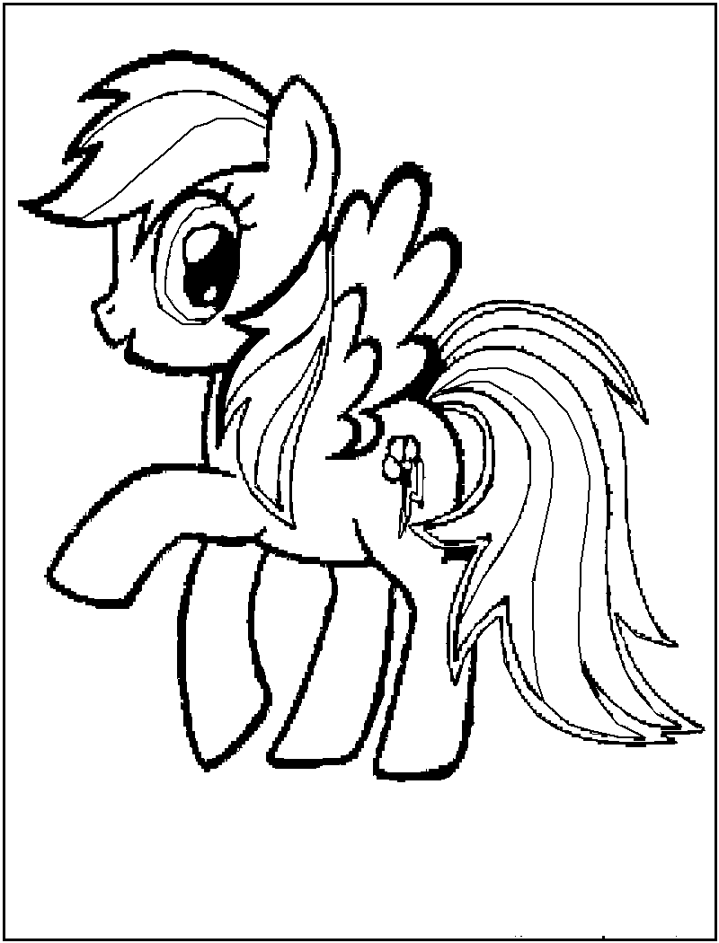 My little pony coloring pages rainbow dash games baby my little pony coloring pages