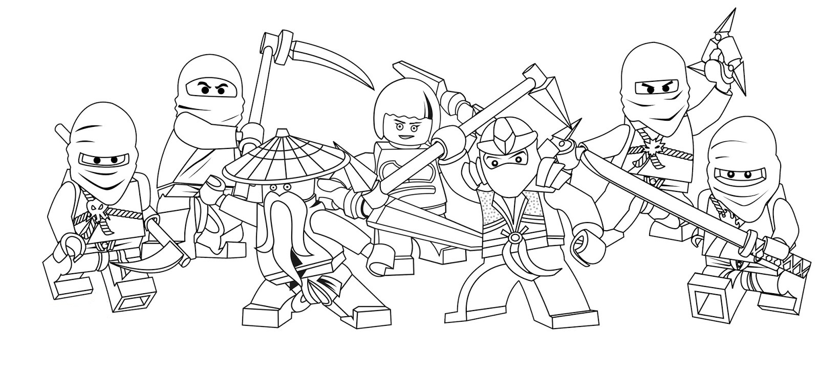 Printable Coloring Pages Lego Ninjago