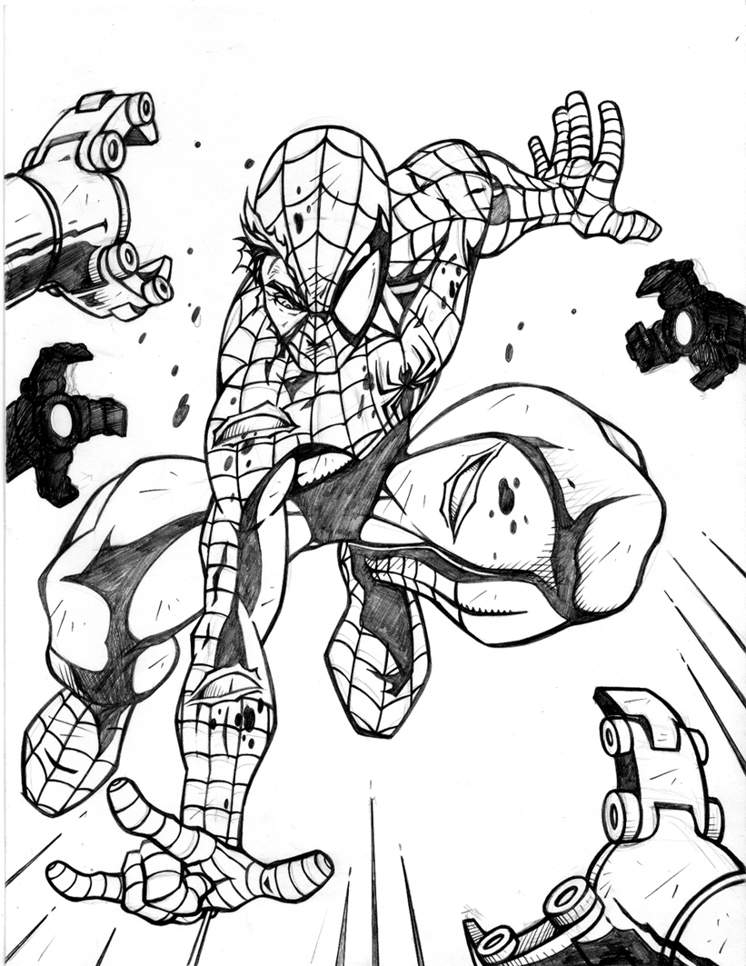 Spiderman coloring pages online games - Coloring Games Online Spiderman Spiderman Coloring Pages Online Download